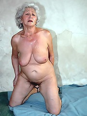 Very old granny in bondage..