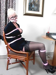 Secretary bound and gagged at..