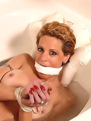 Milf gets bound and gagged..