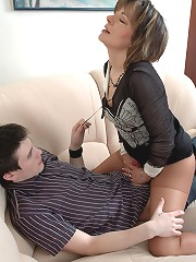 Charming milf in control top..